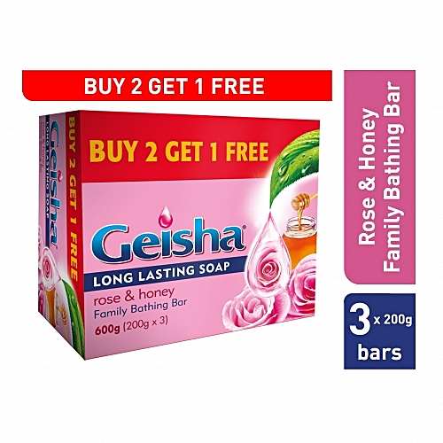 2118b544b Geisha Rose and Honey Family Soap - 3 Pieces   Best Price