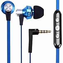Headset, Awei ES-950vi 3.5mm In-ear Earphone Clear Voice Earphone(Blue)