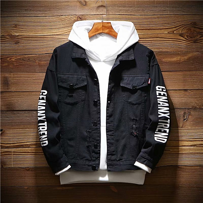 e087e0104f 2018 New Autumn Korean Men s Casual Denim Jacket Men s Jacket Slim Men s  Denim Shirt Tide Male