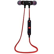 A920BL - Sport Earphone Bluetooth 4.0 Voice Noise Reduction - Black/Red