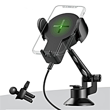 Rock W2 Pro 2 in 1 Qi Wireless Car Charger Dashboard Windshield Phone Holder Stand for iPhone 8 X