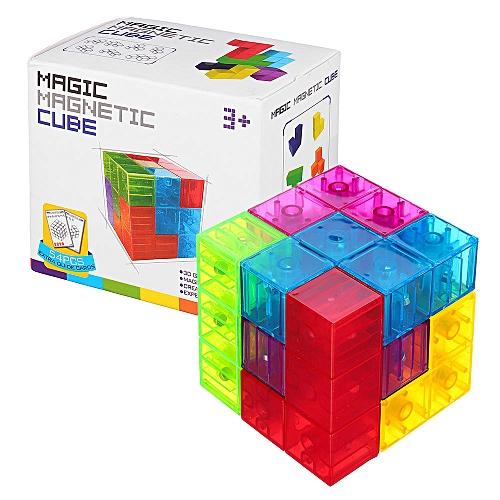 MoFun Magnetic Toys 3D Magic Fidget Cube Blocks Toys DIY Building Model Toy