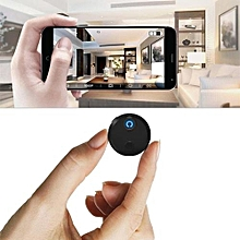 HDQ15 Wifi 1080P 2 Million Pixels 150 Wide Angle Round Mini Camera Video Recording APP Power Display Motion Detection - Black