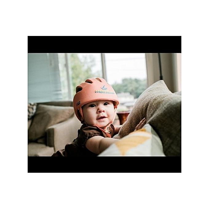 d374ec76cd2 Outdoor Baby Safety Helmet Soft Comfortable Head Anti-collision Security  Hat Head Protection