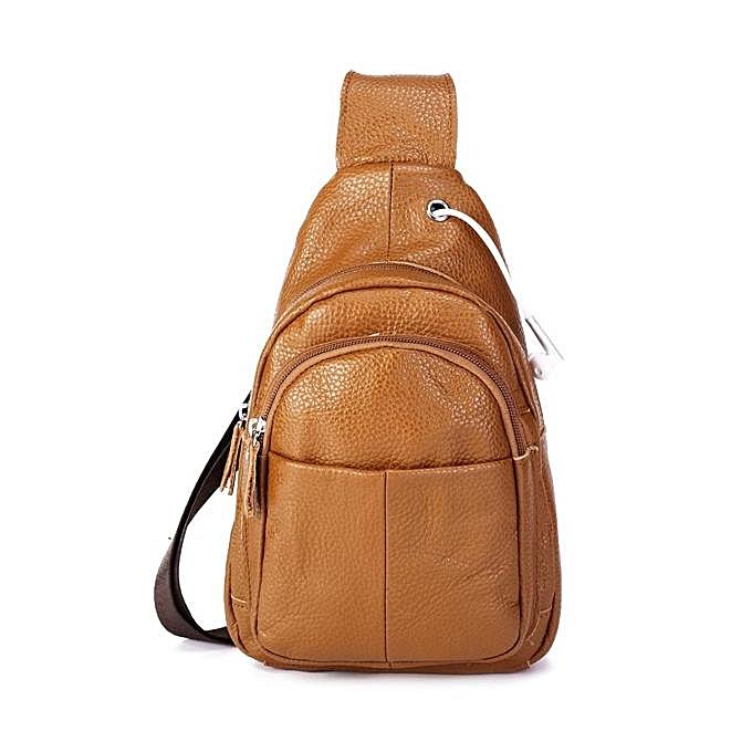 e6ea473135ef Generic Men Genuine Leather Business Crossbody Bag Outdoor Shoulder ...