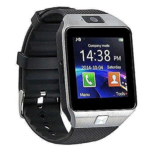 Smart Gear DZ09 Smart Watch Phone for Android and Apple - Silver & Black