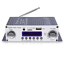 Kentiger HY - 603 HiFi Stereo Power Digital Amplifier With FM IR Control FM MP3 USB Playback-BLUE