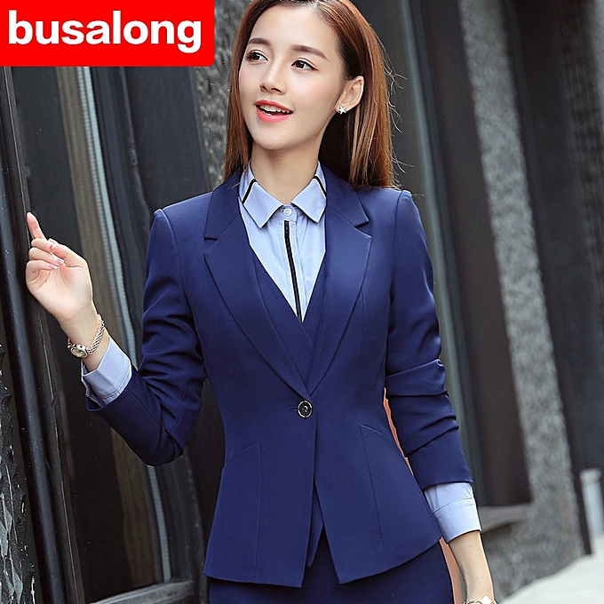 Generic New Style Long Sleeved Professional Skirt Suit Interview
