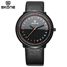 Man Watches Chronos Luxury Auto Date Wristwatch Mens Casual Leather Quartz Business Sport Watch Relogio Masculino 9456Eg