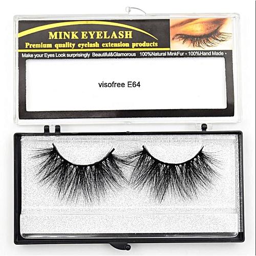 c219388e7c8 Generic Eyelashes Mink Eyelashes Criss-cross Strands Cruelty Free High  Volume Mink Lashes Soft Dramatic Eye lashes E80 Makeup(visofree E64)