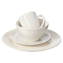 16pc Ripple White Dinner set