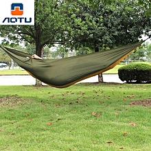 Camping 2-Person Parachute Nylon Fabric Hammock_ARMY GREEN