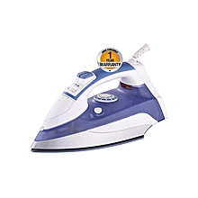 AIR-31VS2 - King Size Steam Iron with Spray - 2200W - Ceramic Sole Plate - White & Blue