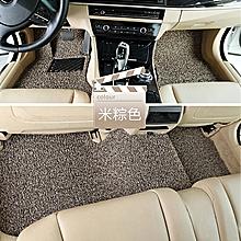 Car Floor Mats Front & Rear Liner Waterproof  3pcs Universal Auto Mat-Brown