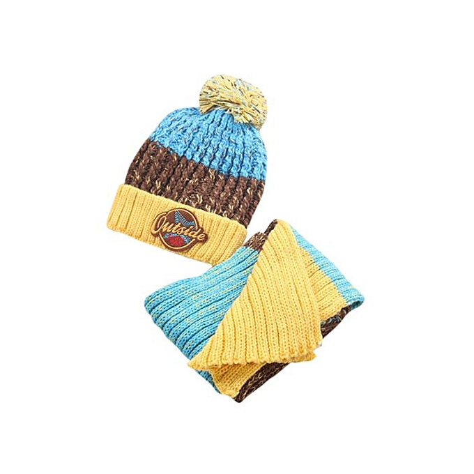 Braveayong Letter Baby Hat Scarf Boys Girls Infant Children Hats Caps YE -  Yellow ... 1fa797bb4f5