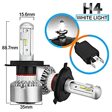 Pair X6 Car 60W LED Headlight H4 Kit Lamp Bulbs Waterproof