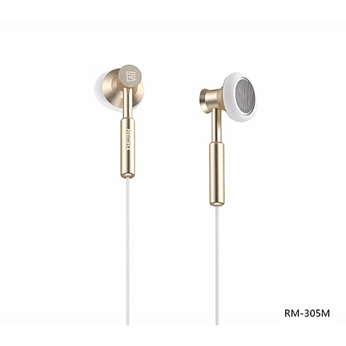 Remax RM-305M 3.5mm Metal Earphone Headphone Headset Stereo Bass Headphones Earphones Fone De Ouvido Micphone Mobile Phone MP3 PC BDZ