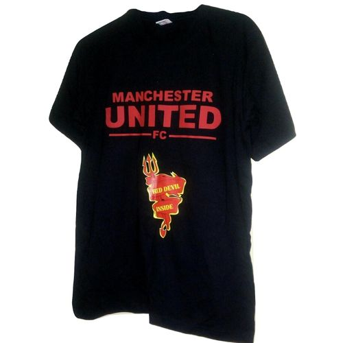 Black Manchester United Fan T- Shirt
