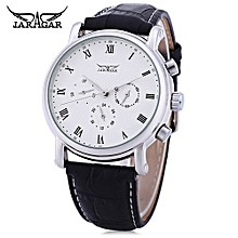 Male Auto Mechanical Watch 24 Hours Calendar Display-WHITE