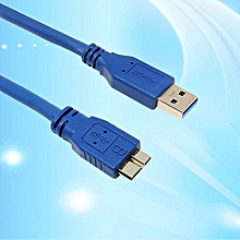 Blue SuperSpeed USB 3.0 Type A Male To Micro B Male Cable 0.5m 1m 1.8m