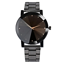 Unisex Quartz Analogue Dial Metal Band Alloy Shell Couple Watch-Array