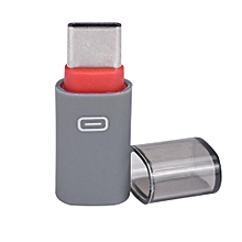 USB-C Type-C to Micro USB Data Charging Adapter For Samsung Galaxy S8 RD-Red