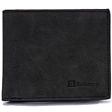 Men's wallet Korean short wallet wallet purse-black