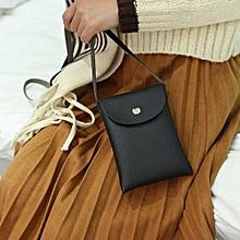 bluerdream-Mini Small Shell Bags Women's Leather Messenger Bags Crossbody Shoulder Bag BK-Black