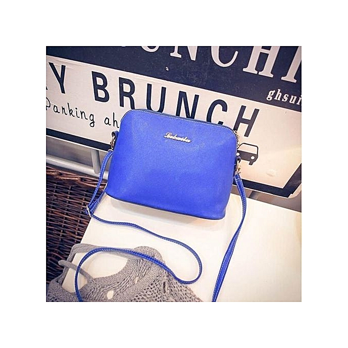 bluerdream-Women Shoulder Crossbody Faux Leather Tote Purse Messenger  Satchel Bag BU-Blue 3390fd32c32b0