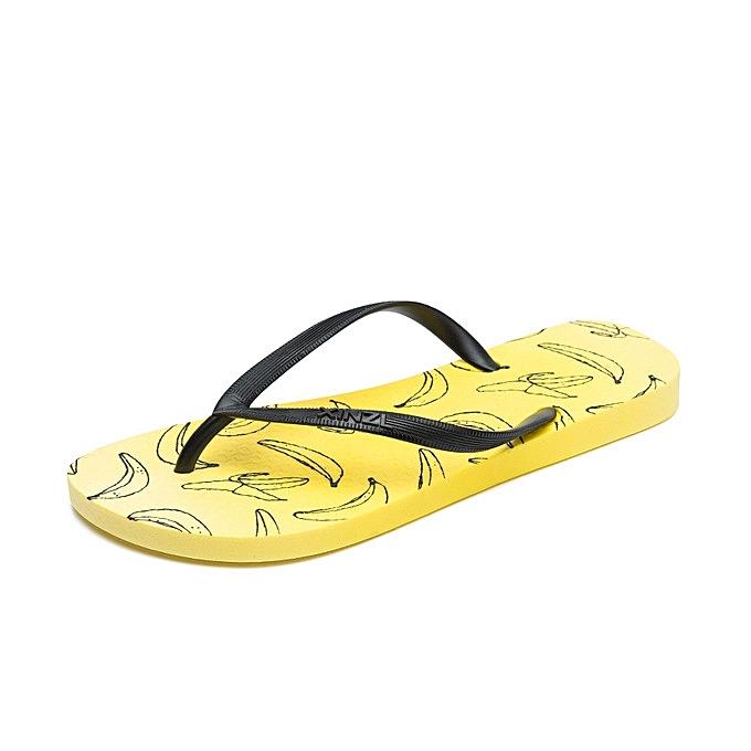 0a87f7029 Refined Women Beach Flip Flops Cartoon Fruit Summer Fashion Slippers Ladies  Comfy Shoes Woman Home Flat