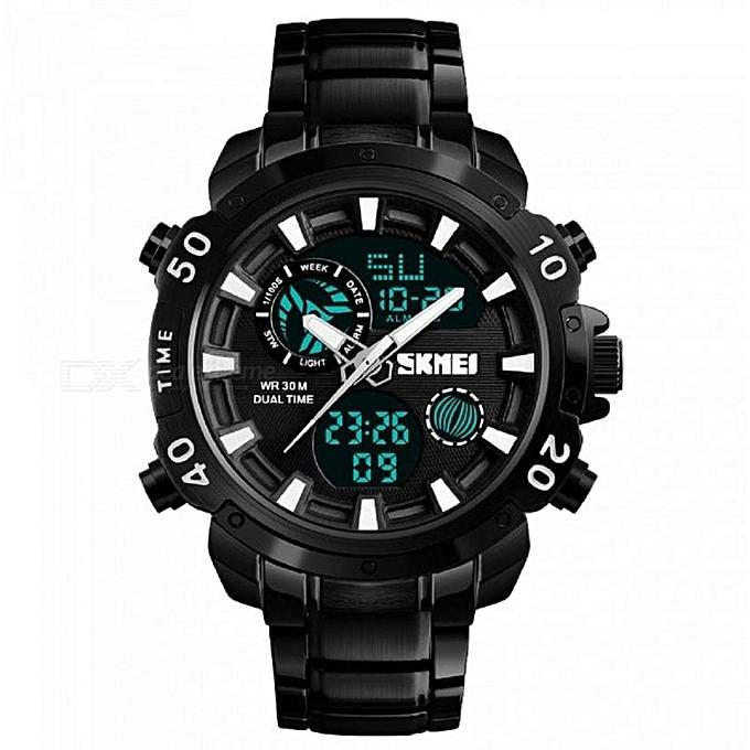 bd1293db1 Skmei New Waterproof Men's Digital Dual Sports Watch 1306 - Black ...