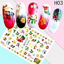Fancyqube Santa Claus Christmas Nail Art Water Transfer Decals Snowflakes Nail Sticker Snowman Tree Manicure Decor Decals Nail Tools Nails Art Decoration Stickers Tips Decal