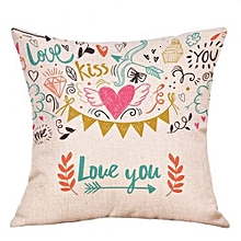 Valentine's Day Fashion Throw Pillow Cases Cafe Sofa Cushion Cover Home Decor