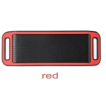S816 Mini Wireless Smart Metal Portable Bluetooth Speaker Handfree Stereo Speakers For PC Laptop Iphone Smartphone(Red)