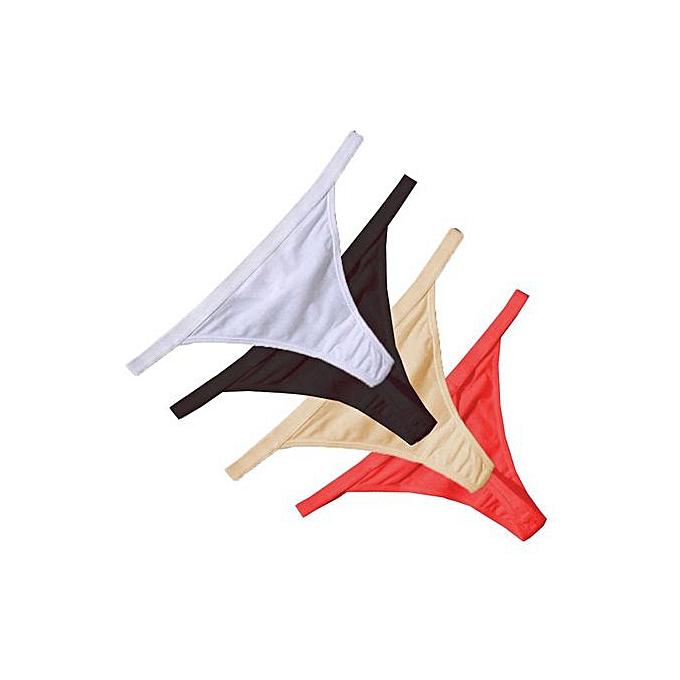 8636a390492 Women G-String Thongs Cotton Underwear Bikini Panties Tangas Knicker Ladies