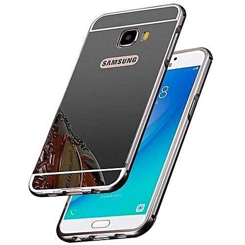 """best service 8d7ad 21d4a High Quanlity Mirror Metal Aluminum Case + Ultra Slim Acrylic Back Cover  For Samsung Galaxy C7 Pro / C7pro / C7010 5.7"""" Inch Luxury (Color:c0)"""