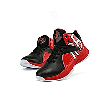 timeless design 8cc27 f7a74 Boy  039 s Blackred Basketball Shoes Professional Kids Childrens Athletic  Sneakers(Little