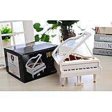 Music Box Home Decoration Kids X mas Gift - White Grand Piano