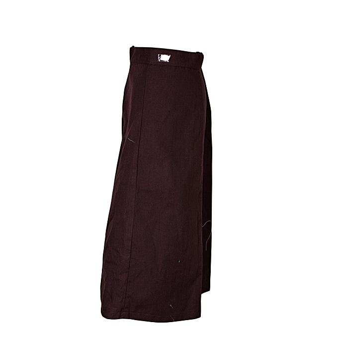 6f10439a5 Fashion Buruburu Girls High School Chocolate Brown School Skirt ...
