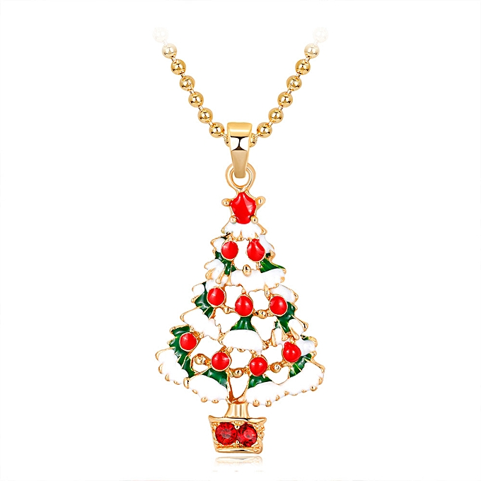 Christmas Tree Necklace Champagne Gold