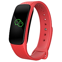 L6 Smartband Pedometer Fitness Tracker Heart Rate Bloof Pressure Bracelet Red