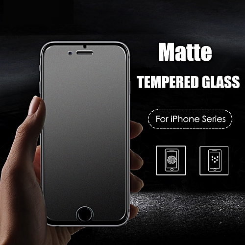 sports shoes 97904 5f34d No Fingerprint Premium Matte Tempered Glass Screen Protector For iPhone Xs  Max 5S 5C 6 6S 7 8 Plus Frosted Glass Protective Film