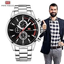 MINIFOCUS Watch Water Resistant Business Steel Clock Mens Quartz Luxury Fashion Watches Male Luminous Watch Relogio Masculino 0085