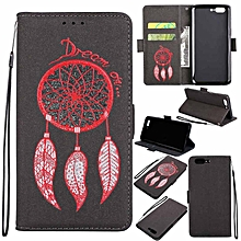 Premium Embossed Wind Chimes PU Leather Wallet Folio Flip Cases with Detachable Wrist Strap Card Slots Kickstand Function Cover Case for OnePlus 5   XXZ-Z
