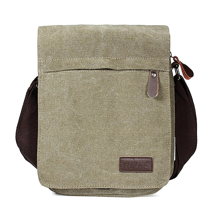 c1a1f5888e Canvas Men Messenger Bags Canvas Crossbody Shoulder Bag Casual Vintage Flap