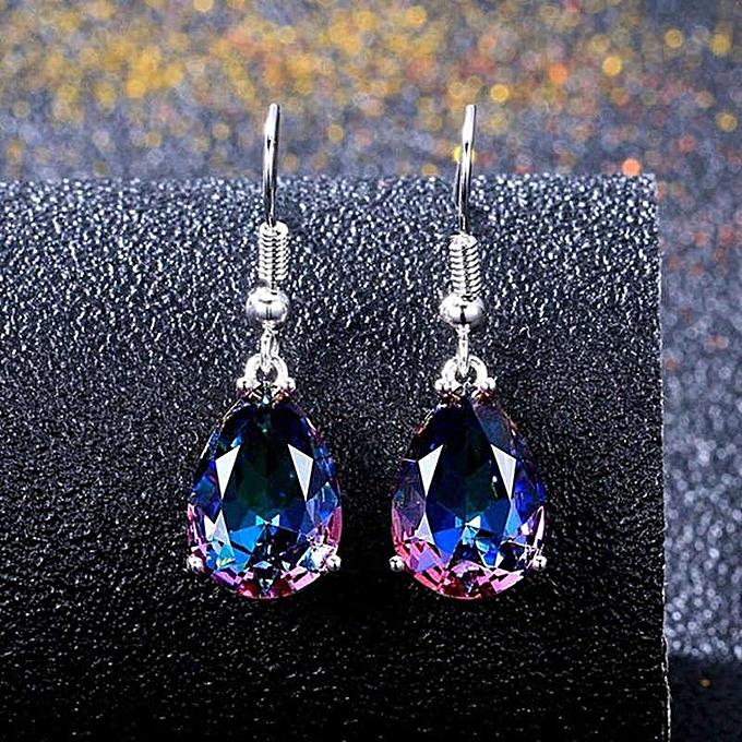 052408ca3 Women 925 Sterling Silver Mystic Rainbow Topaz Gemstone Hook Drop Earrings
