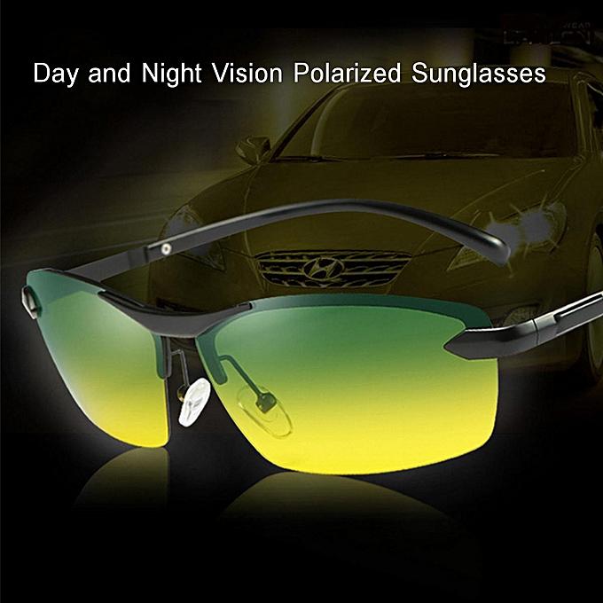 9c1465b87d2 UV Day Night Vision Men s Polarized Sunglasses Driving Pilot Mirror Sun  Glasses