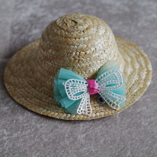 Allwin Summer Trendy Pet Dog Cat Cool Straw Hat Sun Hats Puppies Pet  Accessories blue bowknot M   Best Price  59785bf9225b