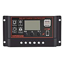 OR Portable 30A Amp Solar Panel Battery Regulator Digital LCD Charger Controller-black