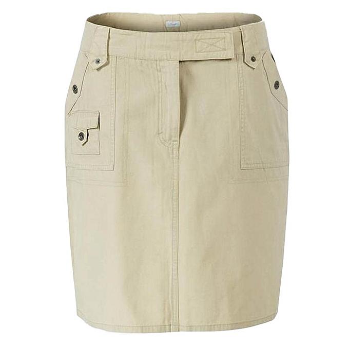 118d76c192 Route 66 Beige Multi-Pocket Knee Length Skirt @ Best Price Online ...